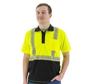 75-5213 Short Sleeve Polo with Reflective Chainsaw Striping