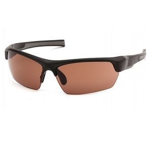 VGSB318T Pyramex Bronze Anti-Fog Lens with Black-Gray Frame