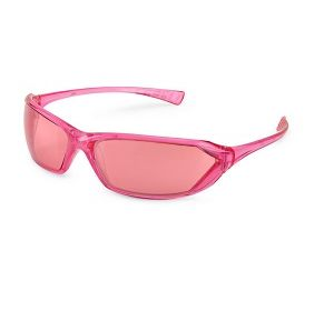 23PK11 Metro Pink Mirror Lense with Pink Frame Safety Glasses