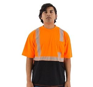 75-5216 Short Sleeve Shirt with Reflective Chainsaw Striping
