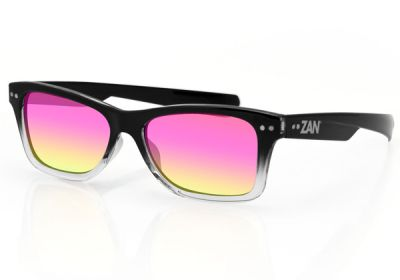 EZTN01 Zan Trendsetter Black Gradient Smoked Purple Mirror Lens