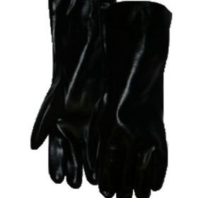 TIB-18 Black PVC 18 in. Gauntlet Cuff Glove