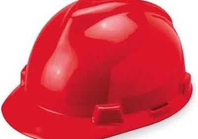 454-475363 MSA Red V-Gard Hard Hat