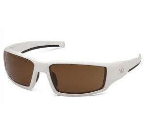 VGSW518T Pyramex Bronze Anti-fog Lens with White Frame