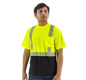 75-5215 Short Sleeve T-Shirt with Reflective Chainsaw Striping