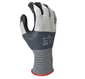 381 General Purpose Embossed Foamed with Nitrile Coating Glove