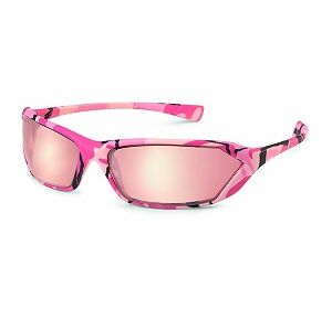 23PC11 Metro Pink Mirror with Pink Camo Frame Safety Glasses