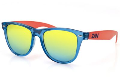 EZMT05 Zan Minty Blue and Orange Frame Smoked Yellow Mirrored Lens