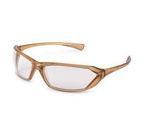 23CL80 Metro Clear with Caramel Frame Safety Glasses
