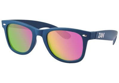 EZWA03 Zan Winna Steel Blue Frame Smoked Mirror Lenses