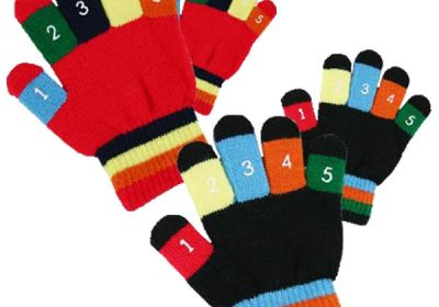 34111 Boys-Girls Knit Stretch Glove With Numbers