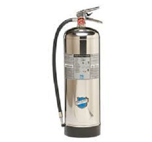 500000 Stainless Steel/Plated Brass Water Fire Extinguisher 2.5 Gallon