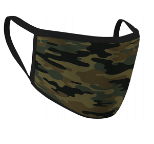 60504 Green Camo Cloth Face Mask 2 Pack