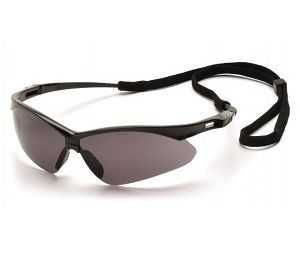 SB6320SP Pyramex Gray Lens with Black Frame and Cord