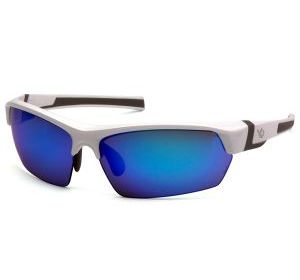 VGSW365T Pyramex Ice Blue Mirror Anti-Fog Lens with White-Gray Frame