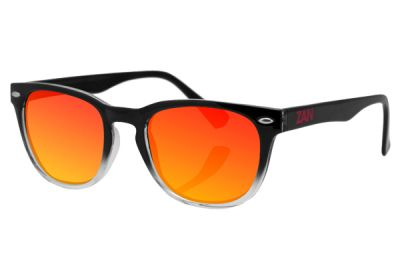 EZNV03 Zan NVS Black Gradient Frame Smoked Crimson Mirrored Lens
