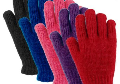 36122 Ladies Ribbed Chenille Stretch Glove