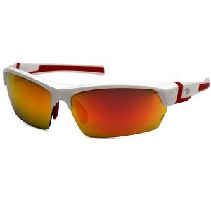 VGSWR355T Pyramex Sky Red Mirror Anti-Fog Lens with White-Red Frame
