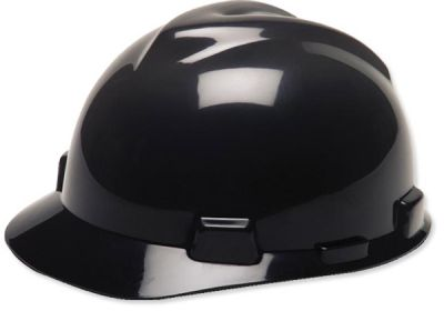 454-492559 MSA Black V-Gard Hard Hat