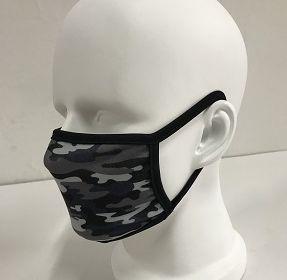60505 Grey Camo Cloth Face Mask 2 Pack
