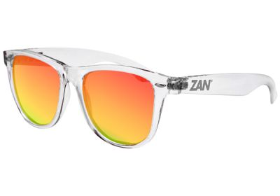 EZMT04 Zan Minty Clear Frame Smoked Crimson Mirrored Lens
