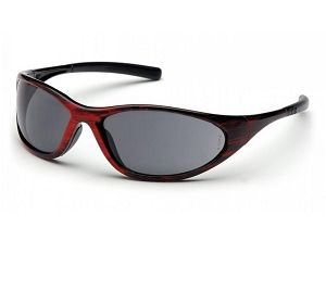 SRW3320E Grey Lens with Red Wood Frame