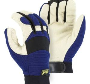 T1526 Pigskin Multi-Purpose with Blue Spandex Back Glove